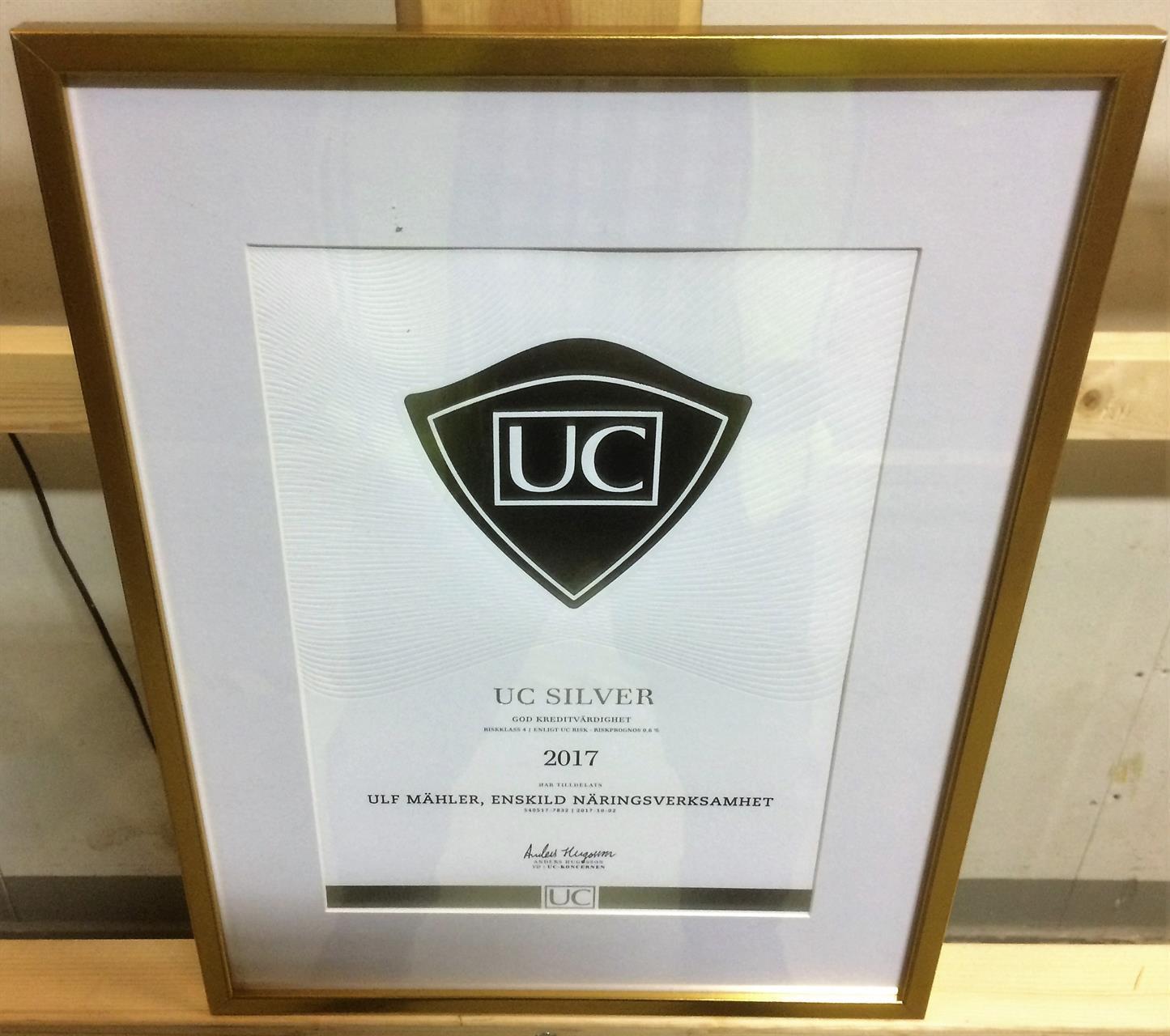 UC-tavla för god kreditvärdighet