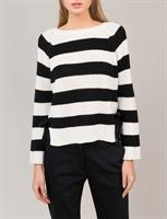 Summum Woman Sweater Cotton Striped, Shell