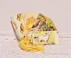 Tags, 5-pack Våren gul