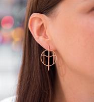 Mockberg M Earrings Rosegold
