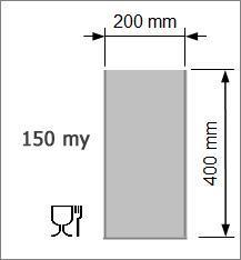 Vakuumpåse 200 x 400 mm 150 my