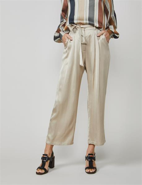Summum Woman Satin Look Trousers, Alpaca