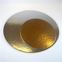 Kakebrett rund gull/sølv, 20cm 3stk FC
