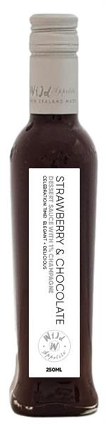 Strawberry & Sparkling Wine Choc Sauce 250ml