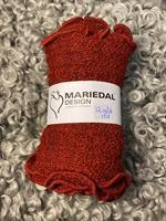 Smal sjal mossa Mörkröd (12) Mariedal design