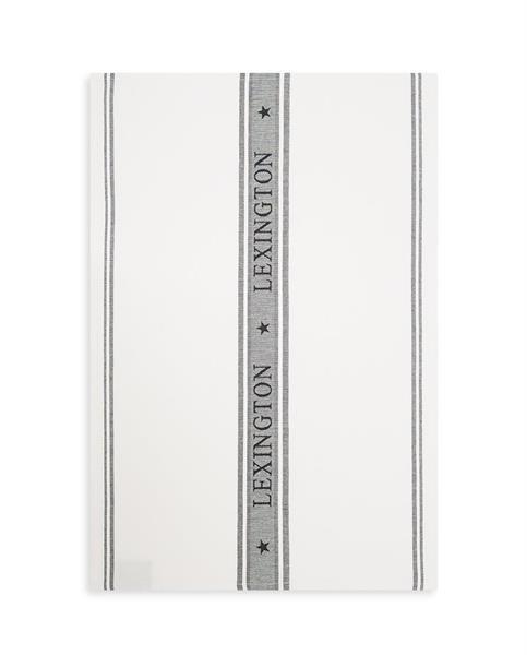 Lexington Icons Cotton Jacquard Star Kitchen Towel, White/Black