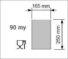 Vakuumpåse 165 x 250 mm, 90 my