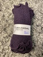Smal sjal mossa Mörklila (20) Mariedal design