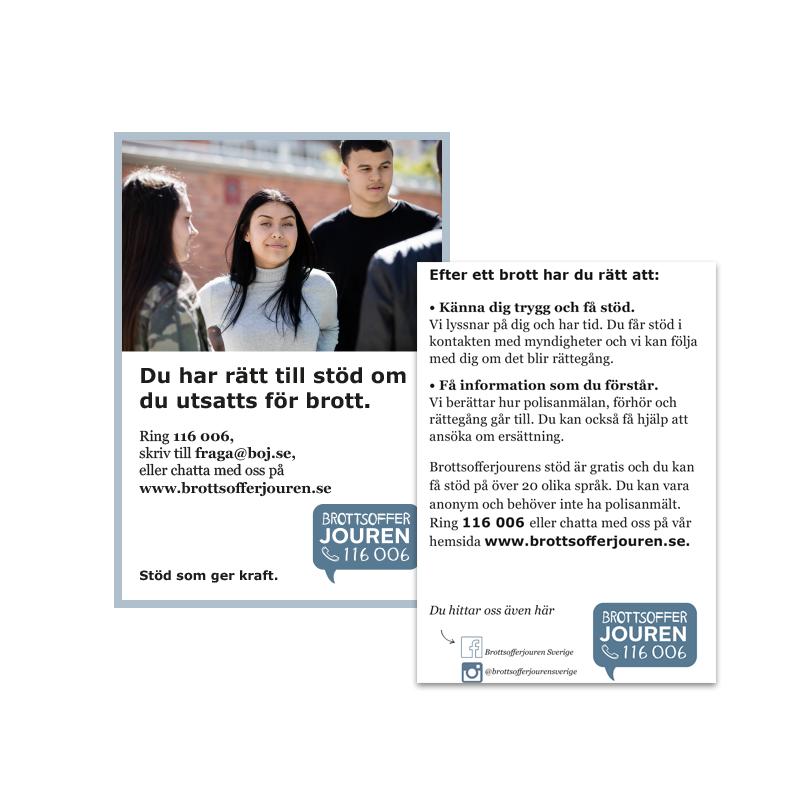 Informationskort A7 - Unga stöd