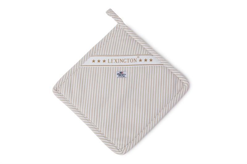 Lexington Oxford Beige/White Striped Potholder