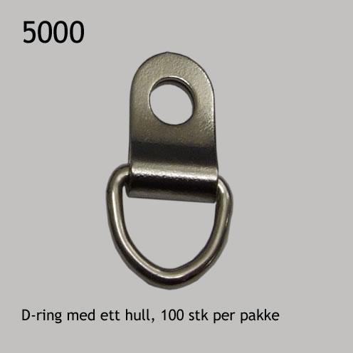 D-ring med ett hull