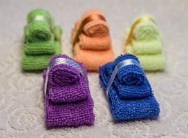 3 handdukar Blå miniatyr