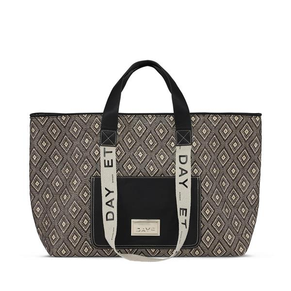 Day Finest Weave Big Shopper, Black