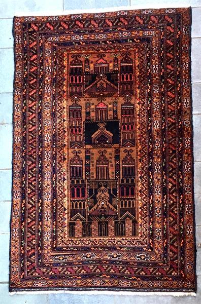 19090 Afghansk bedeteppe 185 x 118