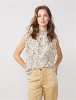 Summum Woman Printed Top, Ivory