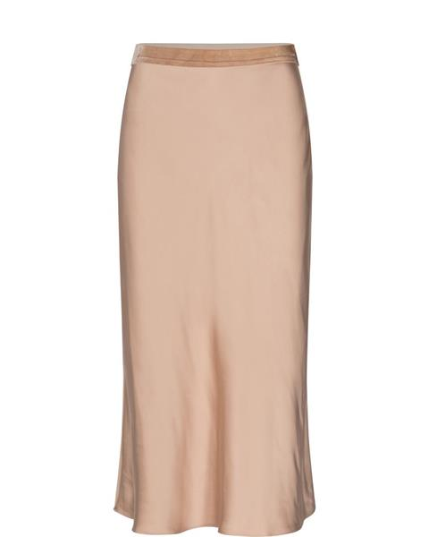 Mos Mosh Bias Satin Skirt, Cuban Sand