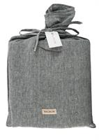Balmuir Linen pillow case, 50 x 60 cm, Dark grey melange