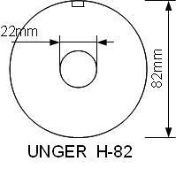 Mått på hålskiva UNGER H-82