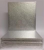 Cake Board KVADRAT 30cm sølv, 12mm