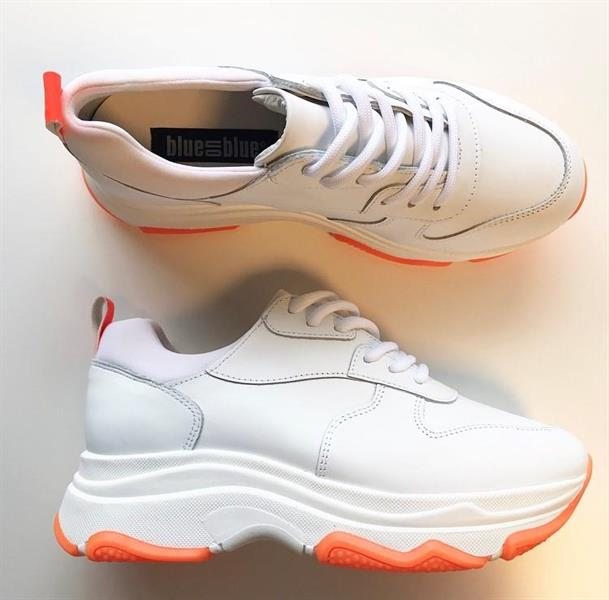Blueonblue Free Light Sneakers, Neon Orange