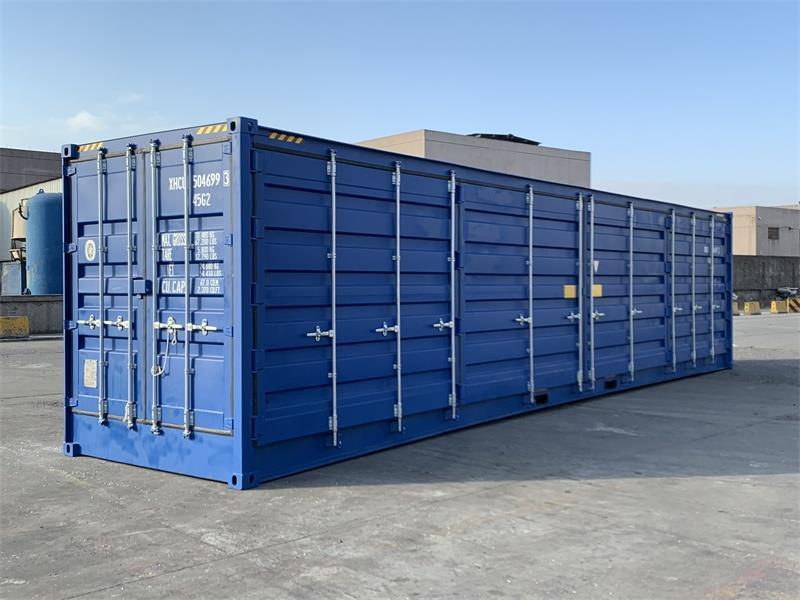40 High cube container med full sideåpning