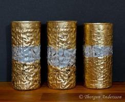 Ljuslykta hög Guld/Silv
