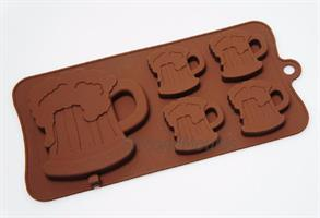 Silikonform sjokolade Ølglass 1+4