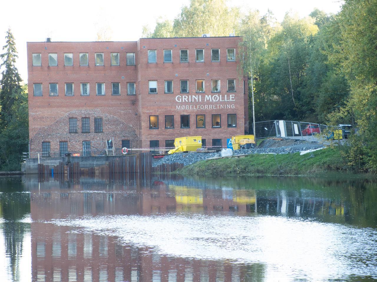 Grini Mølle ligger ved Lysakerelva