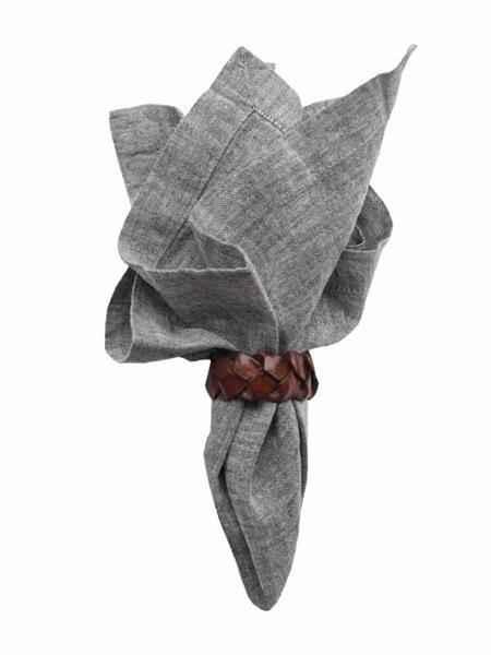 Balmuir Linen Napkin, 45 x 45 cm, Dark grey melange