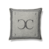 Classic Collection Monogram Cushion Cover, Iron Gate