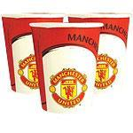 Engangskopper Manchester United 8stk