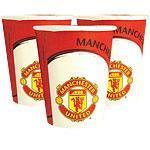 Engangskopper Manchester United 8stk