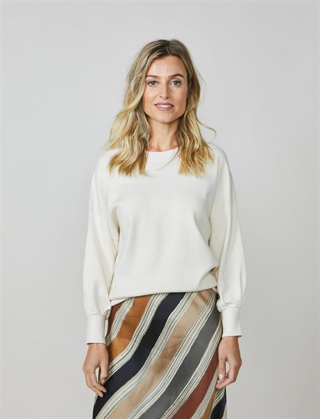 Summum Woman Knitted Pullover, Ivory