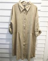 Piro Linen Dress, Cord