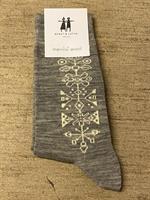 Cai strumpa i merinoull Tradition ljusgrå melange st.35-39