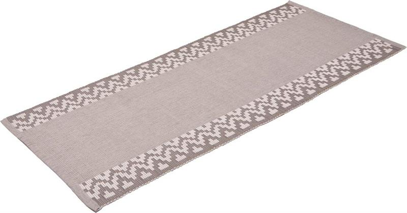 Karinmatta rips grå 200 cm