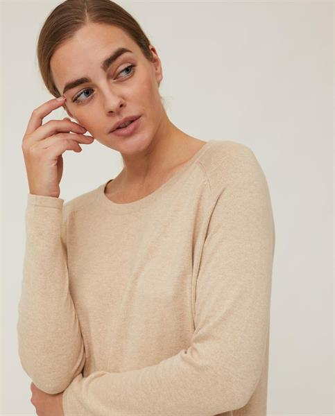 Lexington Lea Cotton/Cashmere Sweater, Light Beige Melange
