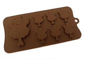 Silikonform Sjokolade Fee 6+1