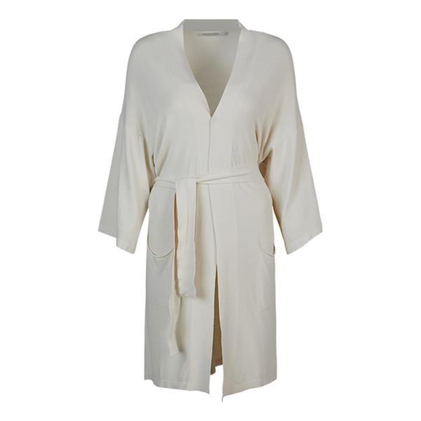 Summum Woman Long Cardigan Basic Knit, Ivory