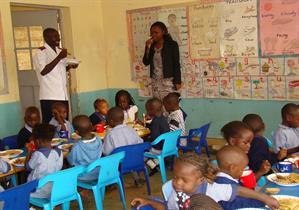 De minsta barnen i skolan