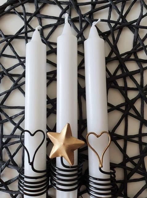 Ljusdekorationer hjärta eller stjärna