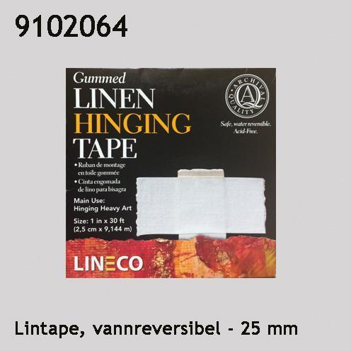 Lintape, hengslingstape, vannreversibel 25 mm