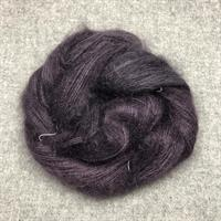 Silk Mohair Aubergine