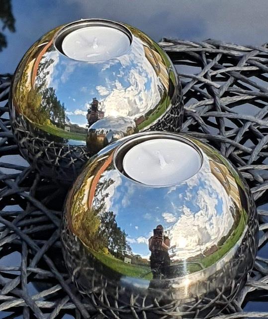 Silverklot ljushållare