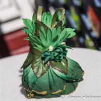 Fairy-dress, Green Roses, grönt o guld