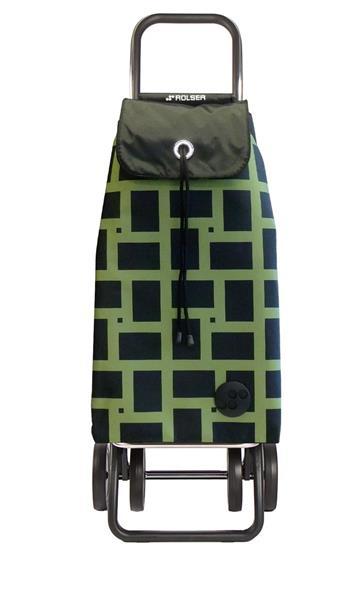 Shoppingvagn Rolser 2+2 Logic Geometric verde