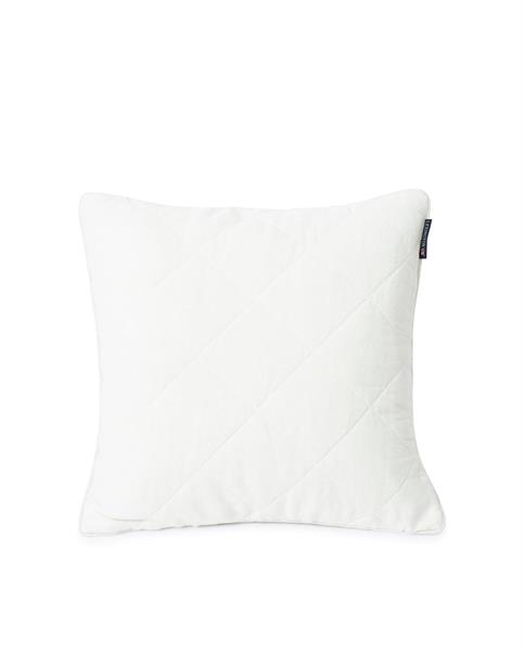 Lexington Quilted Linen/Viscose Pillow Cover, Off White