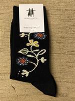 Cai strumpa i merinoull Bloome svart st.35-39