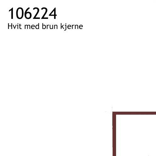 106224 hvit med brun kjerne