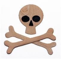 Utstikkersett Skull, 4 deler KB